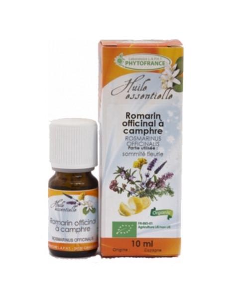 Huile essentielle de Romarin à Camphre Bio 10 ml Phytofrance Herboristerie de paris