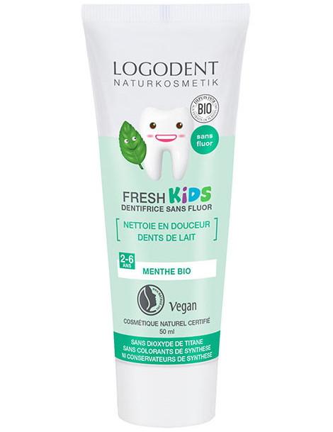 Dentifrice Kids enfants menthe douce 50 ml Logodent Logona - dentifrice bio enfants Herboristerie de paris
