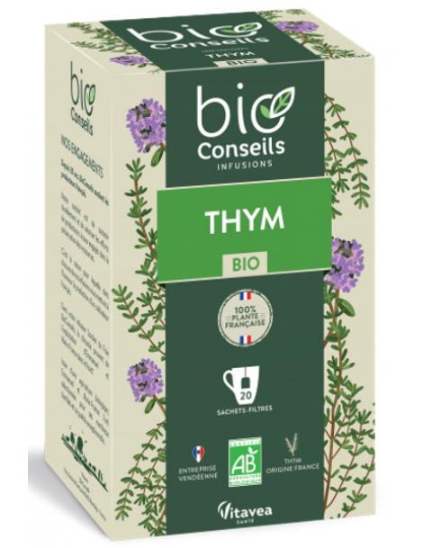 Infusion Thym bio 20 sachets filtres Bio Conseils Herboristerie de paris