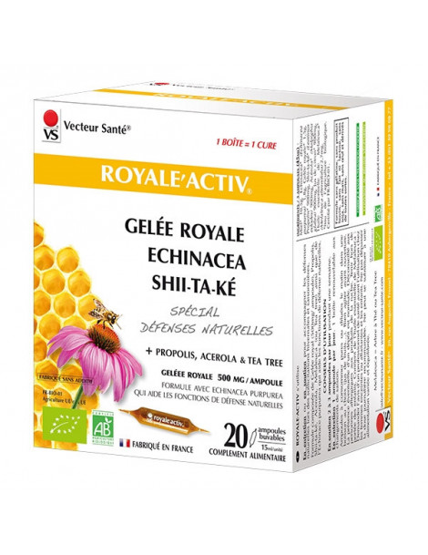 Royal'activ 20 ampoules de 10 ml Vecteur Santé Herboristerie de paris
