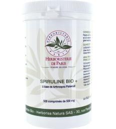 Spiruline bio +  500 comprimés de 500 mg Herboristerie de Paris