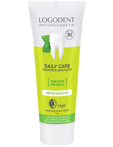 Daily Care dentifrice à la Menthe 75ml Logona Herboristerie de paris