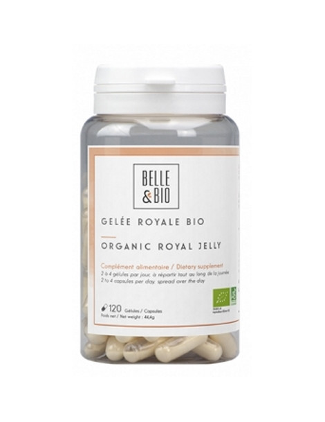 Gelée royale lyophilisée bio 60 gélules 19.5g Belle et Bio