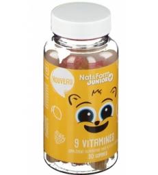 9 Vitamines Junior+ 30 oursons Nat et Form