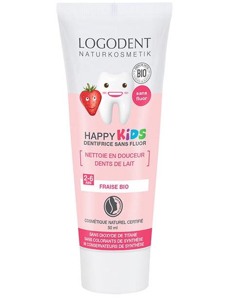 Dentifrice Kids Arôme fraise 50ml Logona