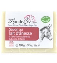 savon 40 % lait d'ânesse bio karite et extrait de calendula 100gr Monde bio
