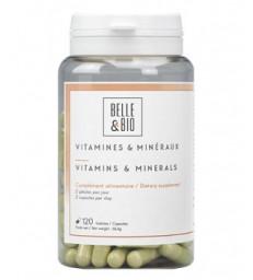 Vitamines et minéraux naturels 120 gélules Belle et Bio