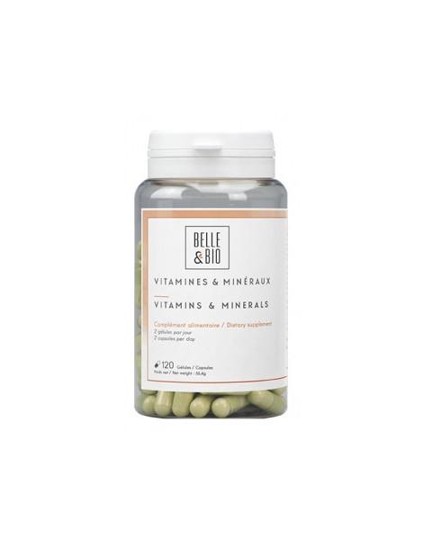 Vitamines et minéraux naturels 120 gélules Belle et Bio Herboristerie de paris