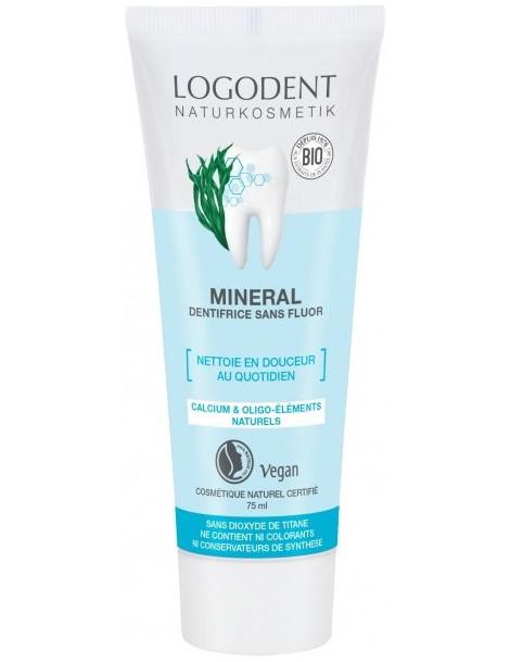 Pâte Dentifrice Minéral Logodent 75 ml Logona hygiène dentaire Herboristerie de paris