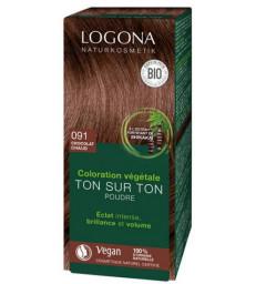 Coloration végétale Ton sur Ton en poudre 091 Chocolat chaud 100 gr Logona