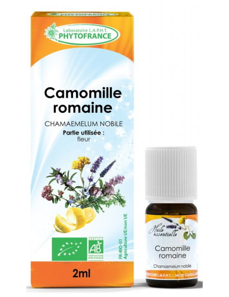 Huile essentielle de Camomille Romaine 2 ml Phytofrance Herboristerie de paris