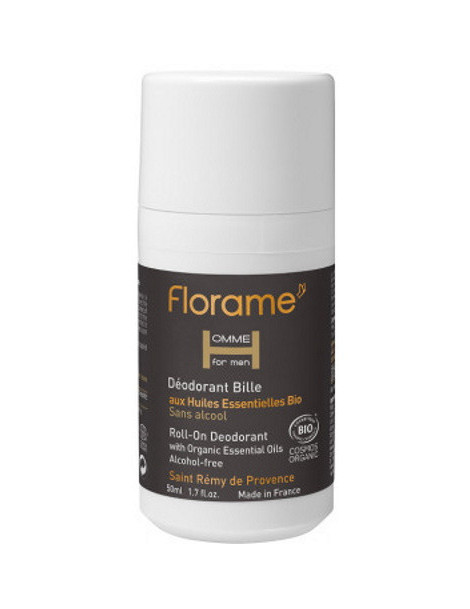 Déodorant bille roll on Homme 50 ml Florame Herboristerie de paris