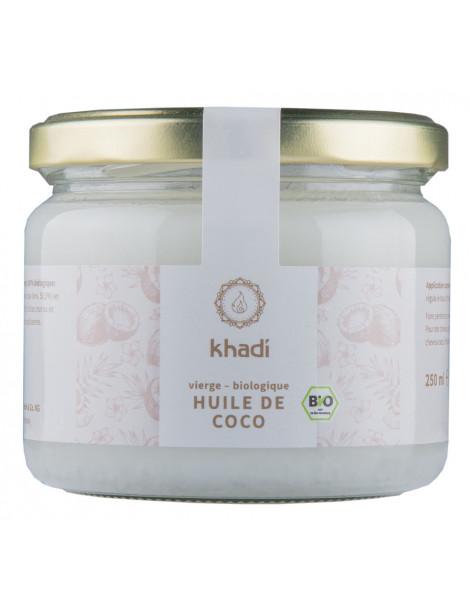 Huile de Coco Extra Vierge 250g Khadi hydratation des cheveux Herboristerie de paris