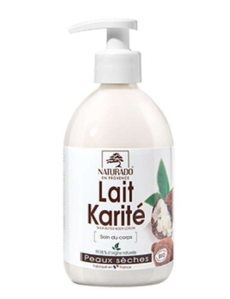 Lait corporel Karité peau sèche 500 ml Naturado Herboristerie de paris