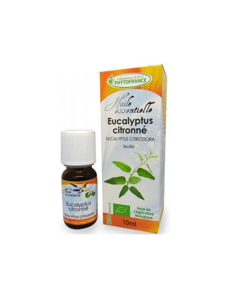 Huile essentielle Eucalyptus Citronné feuille Bio 10ml Phytofrance Herboristerie de paris