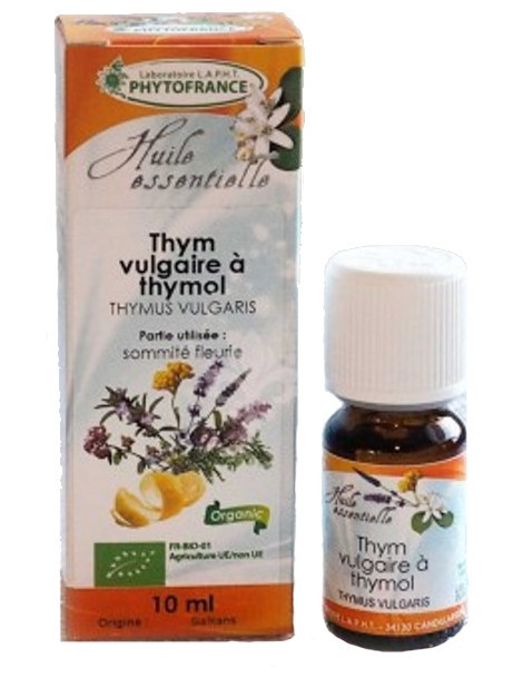 Huile Essentielle de Thym vulgaire Thymol 10ml Phytofrance Herboristerie de paris