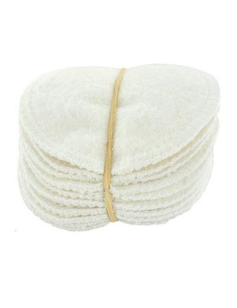 12 lingettes à démaquiller chanvre et coton biologique Lulu Nature produit de nettoyage visage Herboristerie de paris
