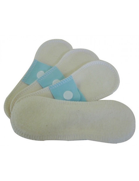 Lot 4 protège slips mini (16x5cm) coton bio Lulu Nature protection hygiénique féminine Heboristerie de paris