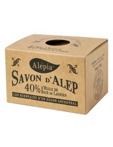 Savon d'Alep ancestral 40% baie de Laurier 190 gr Alepia savon traitant Herboristerie de paris