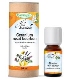 Huile essentielle GéRANIUM BOURBON BIO 10ml Phytofrance