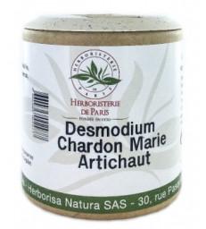 Desmodium Chardon marie Curcuma Artichaut 200 gélules Herboristerie de Paris