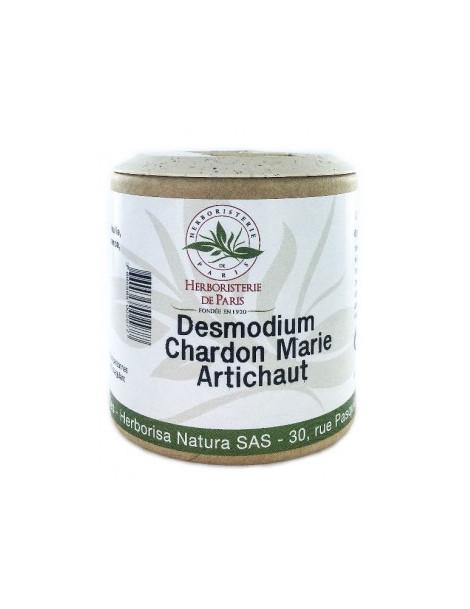 Desmodium Chardon marie Curcuma Artichaut 200 gélules Herboristerie de Paris dépuratif foie
