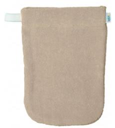 1 gant de toilette en coton biologique écru Popolini