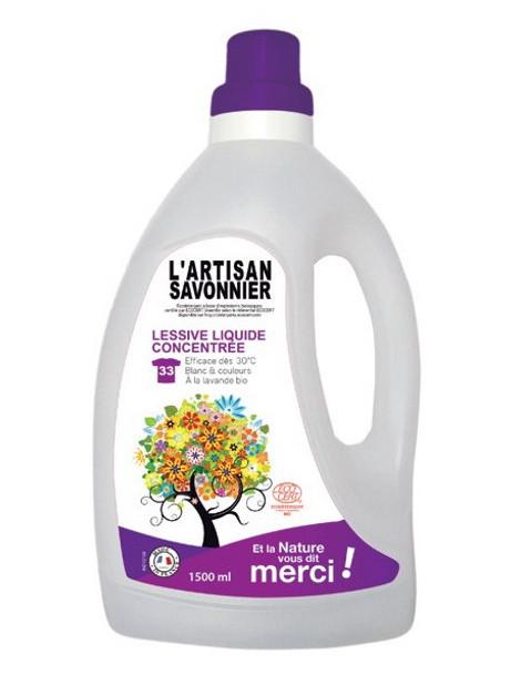 Lessive liquide concentrée 1.5 L L Artisan Savonnier senteurs de lavande Herboristerie de paris