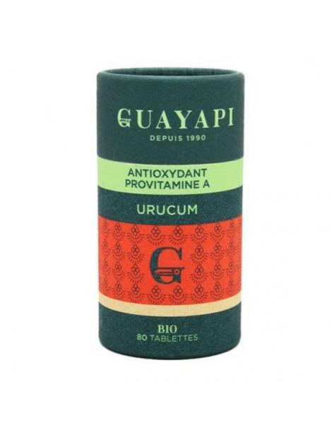 Urucum caroténoides 80 tablettes 600 mg Guayapi bixine sélénium Herboristerie de paris