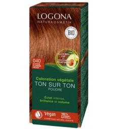 Coloration végétale Ton sur Ton 040 poudre Cuivre flamme froid 100gr Logona