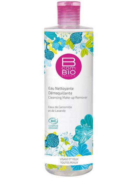 Eau nettoyante démaquillante bio Pureté Florale 400 ml BcomBio base lavante non irritante Herboristerie de paris
