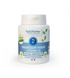 Magnésium marin Vitamine B6 40 gélules 21,9g Nat et Form
