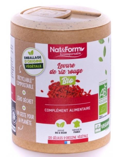 Levure de riz rouge Bio 120 gélules Nat et Form cholesterol normalisation Herboristerie de paris