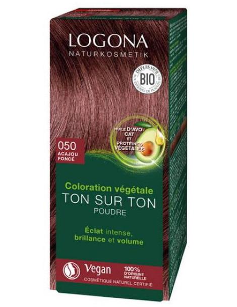 Coloration végétale Ton sur Ton Acajou foncé 050 100gr Logona Herboristerie de paris