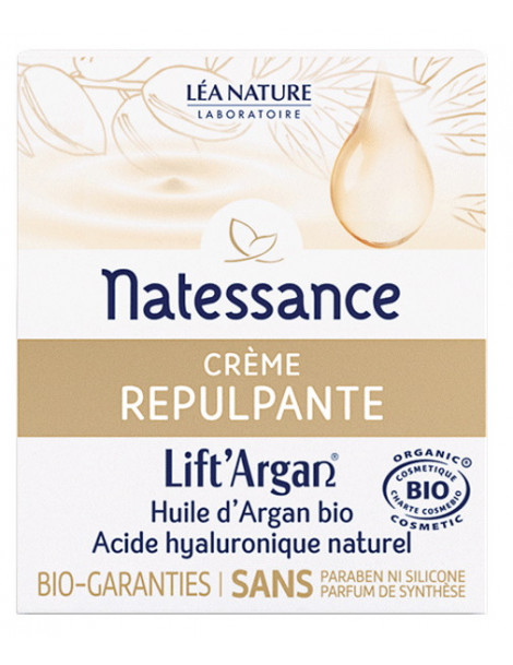 Crème Repulpante Anti rides Lift'Argan 50 ml Natessance rose de jéricho Herboristerie de paris