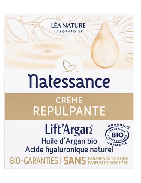 Crème Repulpante Anti rides Lift'Argan 50 ml Natessance rose de jéricho Herboristerie de paris