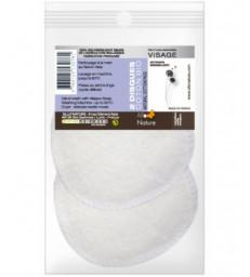2 disques à démaquiller en coton bio réutilisables Allo Nature