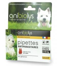 2 Pipettes antiparasitaires petit et moyen chien 2ml Anibiolys