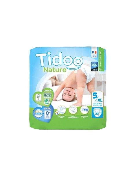 22 Couches Single Pack (T5/XL) 12/25kg Tidoo Herboristerie de Paris