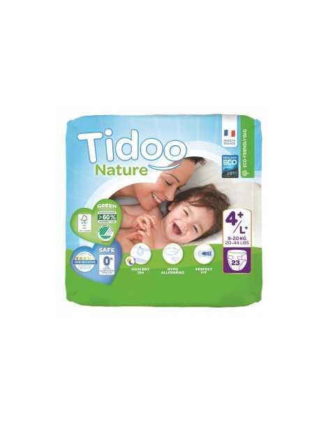 23 Couches Single Pack (T4+/L+) 9/20kg Tidoo Herboristerie de Paris