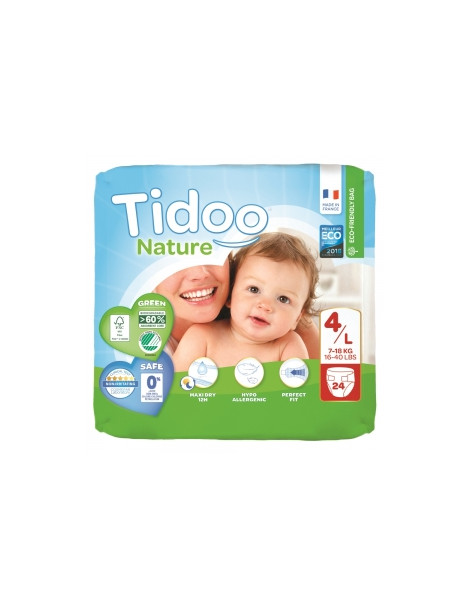 24 Couches Single Pack (T4/L) 7/18kg Tidoo Herboristerie de Paris