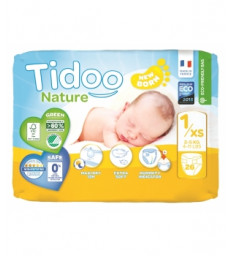 26 Couches Single Pack (T1/XS) 2/5kg Tidoo