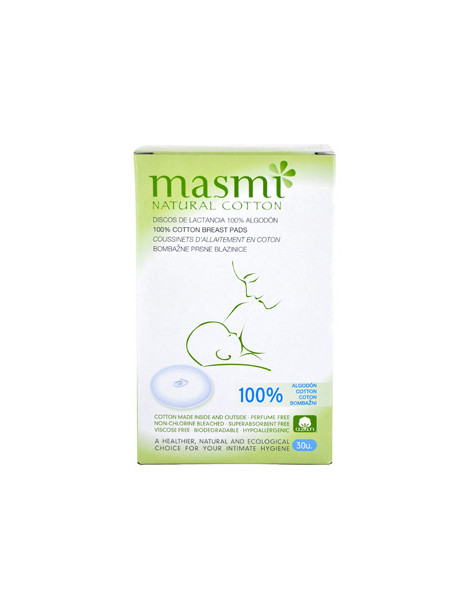 30 Coussinets d'allaitement 100% coton biologique Masmi Herboristerie de Paris