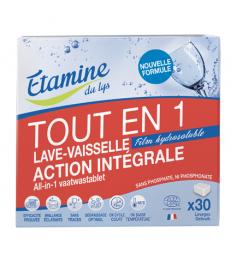 30 Tablettes Lave vaisselle tout en un Etamine du Lys