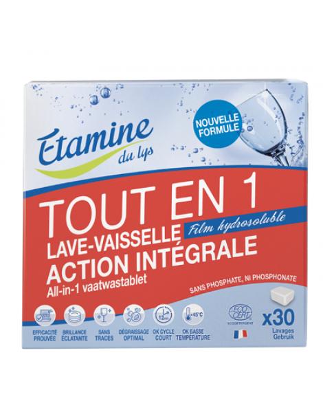 30 Tablettes Lave vaisselle tout en un Etamine du Lys Herboristerie de Paris