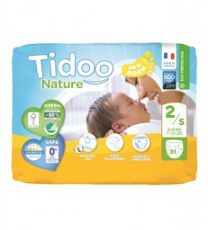 31 Couches Single Pack (T2/S) 3/6kg Tidoo