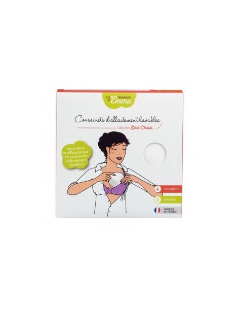 4 coussinets d'allaitement lavables Les Tendances d'Emma Herboristerie de Paris