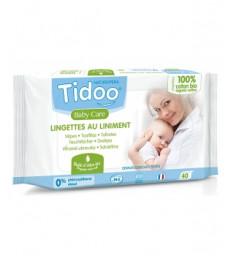40 Lingettes au liniment à l'huile d'olive et coton bio Tidoo