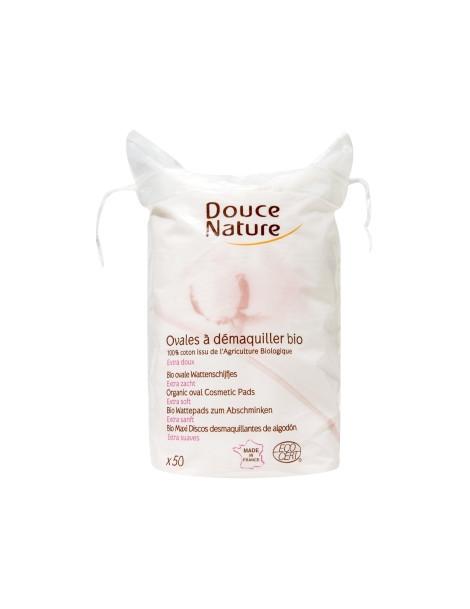 50 Ovales à démaquiller coton bio 50g Douce Nature Herboristerie de Paris