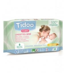 58 Lingettes compostables au Calendula Naturellement Parfumées Tidoo